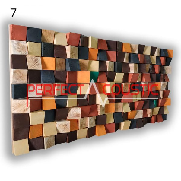 art akusztikai diffúzor 7 színminta