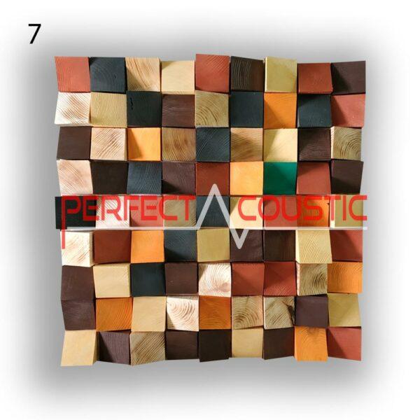 art akusztikai diffúzor 7 színminta, szemből
