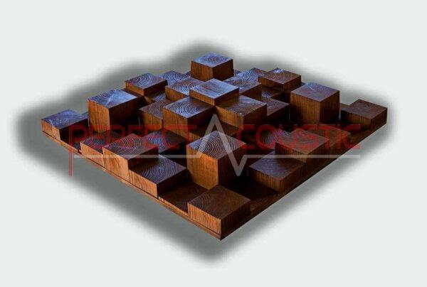 3D akusztikai diffúzor fabol