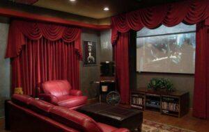 akusztikai függönyök egy nappaliban
