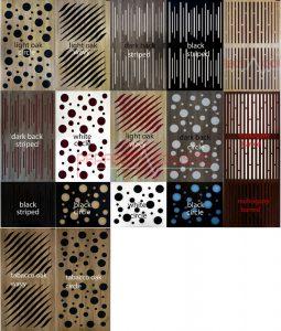 diffuzoros akusztikai panel szinek es mintak