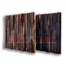fa akusztikai diffuzor fekete diobol