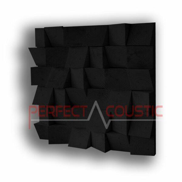 ferdekocka akusztikai diffuzor feketeben