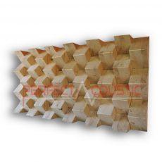 piramis akusztikai diffuzor natur