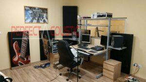 studio akusztika meres kozben