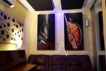 akusztikai panelek falon és mennyezeten