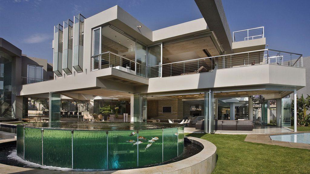 üveg ház