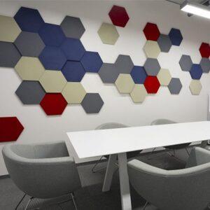 6 szögű panelek irodában 2.