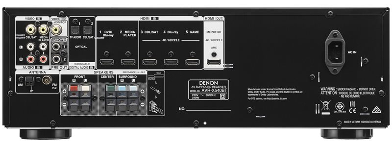 AVR-X540BT erősítő-csatlakozások