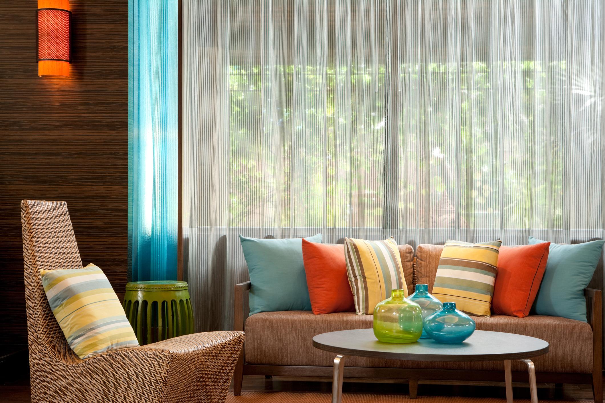 fényáteresztő függöny-nappali