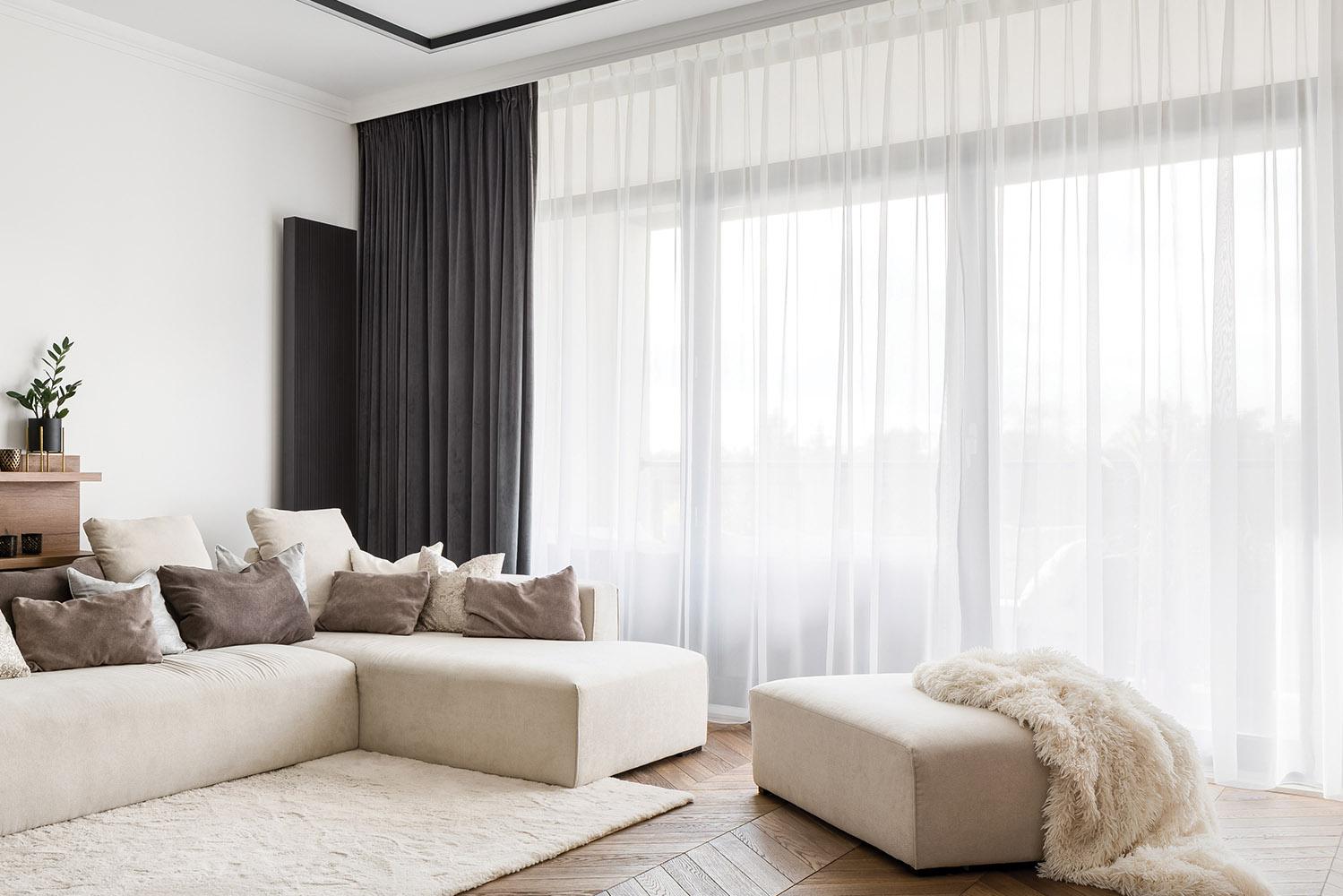 függöny szobában , áttetsző függöny