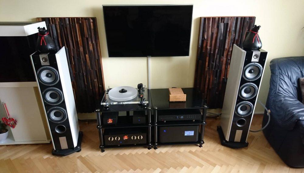 Nemes fa akusztikai diffúzor