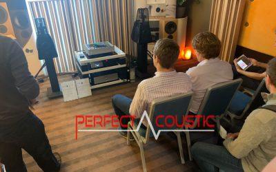 Core Audio kiállítása Perfect Acoustic diffúzorokkal, akusztikai panelekk.